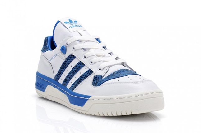 Blue Adidas Rivalry Lo Limited Edition Quater Front 1