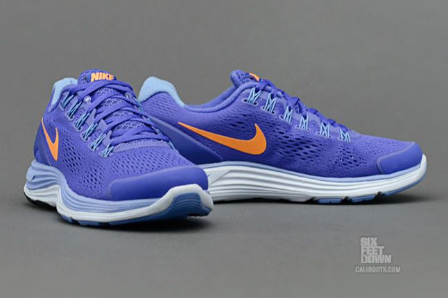 Nike Lunarglide 4 Violet Force Bright Citrus Pair 1