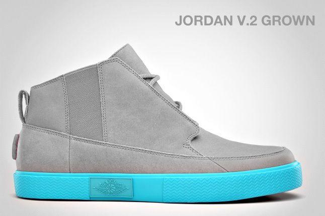 Jordan V 2 Grown Blue Spark 1