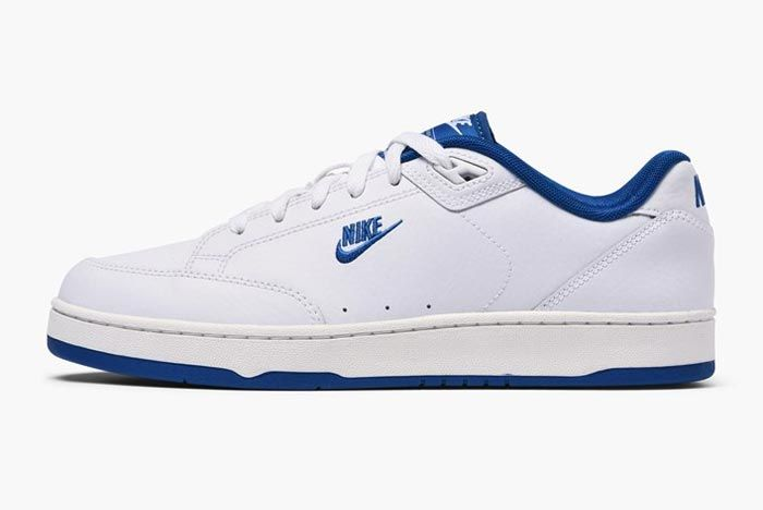 Nike Grandstand Ii Navy Blue Lateral