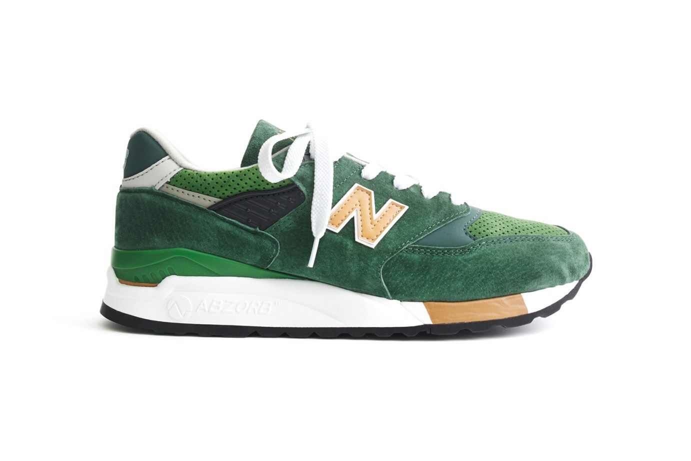 J Crew X New Balance 998 Green Back