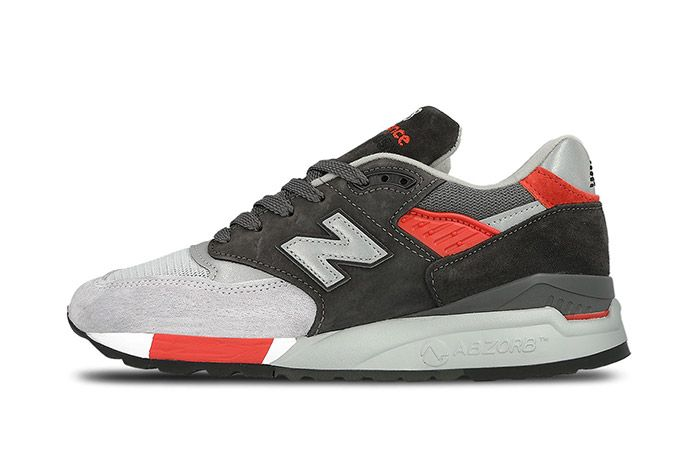 New Balance 998 Made In Usa Grey Red 1