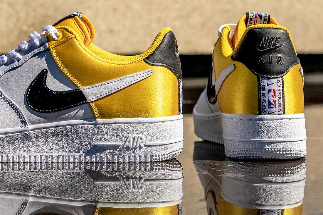 Nike Nba Air Force 1 Low Yellow Black White Detail
