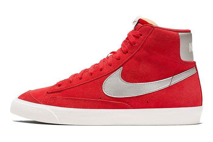 Nike Blazer Mid Vintage Red Cj9693 600 1 Side