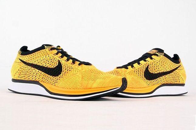 Nike Flyknit Racer Yellow Black 5