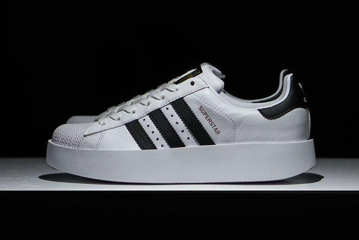 Adidas Superstar Bold White Black Womens 3