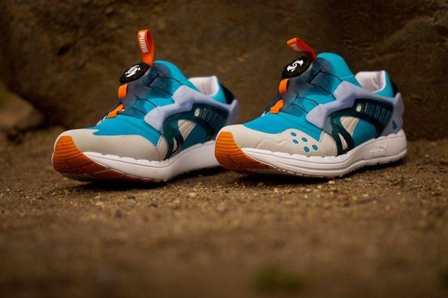 Puma Disc Blaze Ltwt Blue Orange Toe Profile 1
