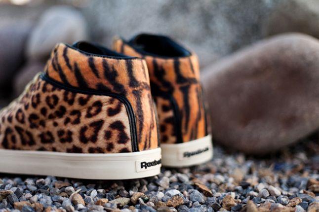Tyga X Reebok Classics T Raww Leopard Tiger Heel 1