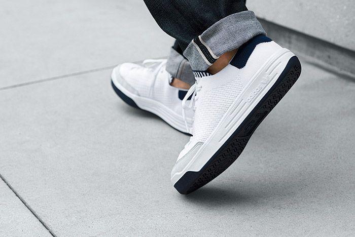 Adidas Rod Laver Primeknit Pk White On Feet 2