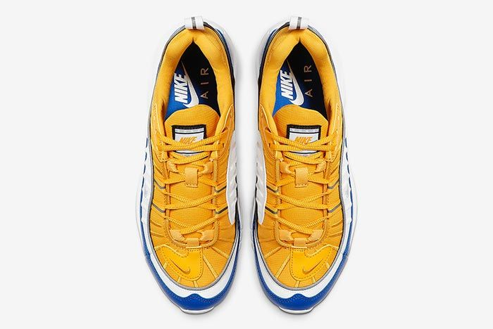 Nike Air Max 98 Yellow White Blue At6640 700 Top