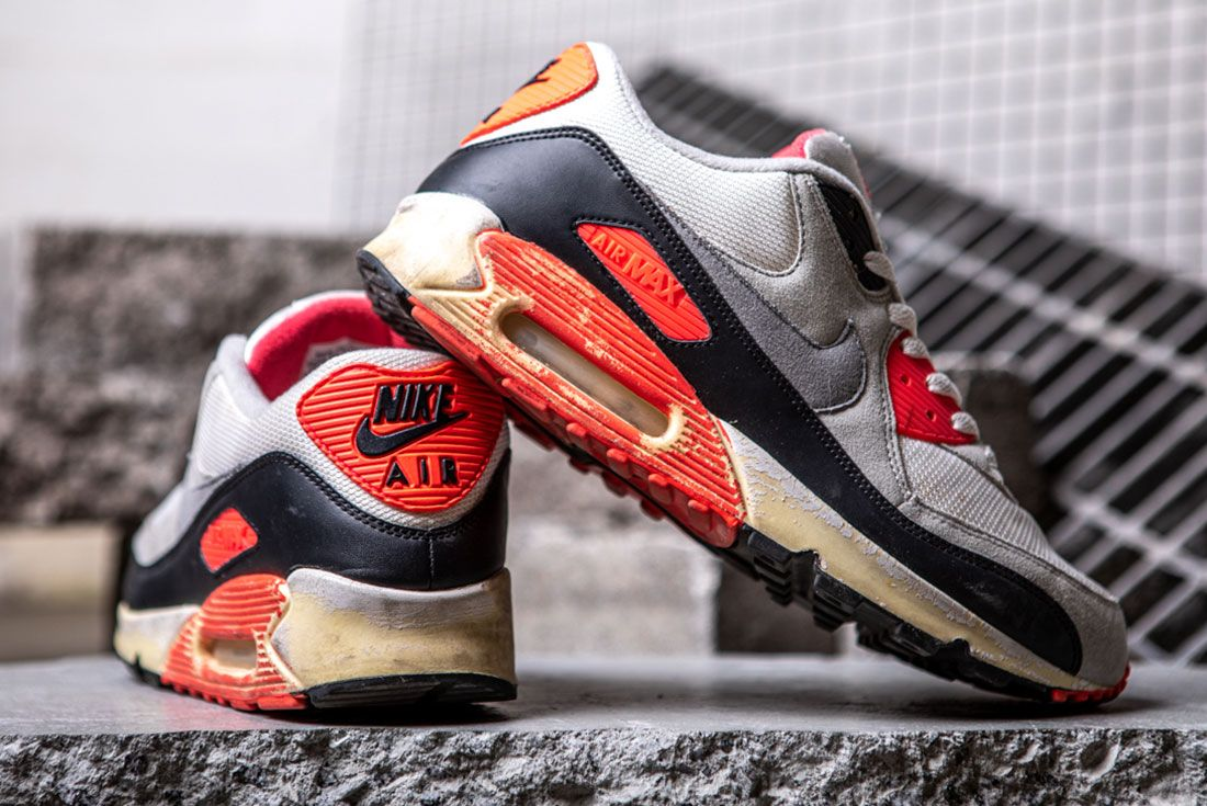 Nike Air Max 90 Infrared 2008 Heel Lateral