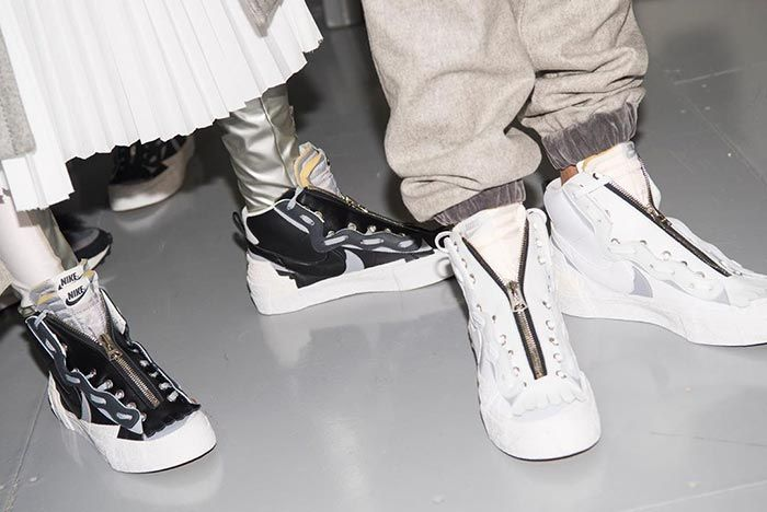 Sacai X Nike Collection Accessories On Foot