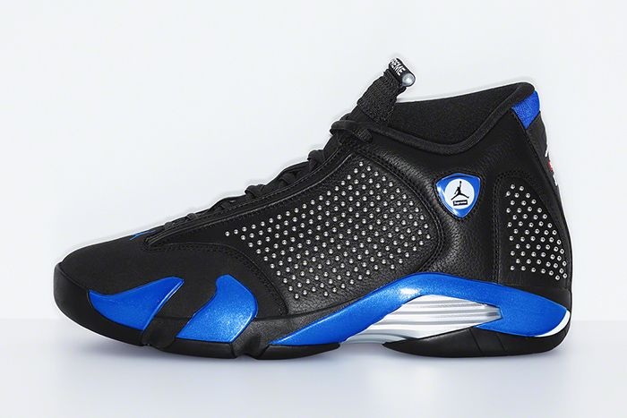 Supreme Air Jordan 14 Official Black Release Date Lateral