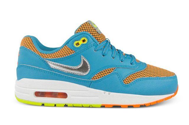 Nike Air Max 1 Le Gs Gamma Blue Total Orange