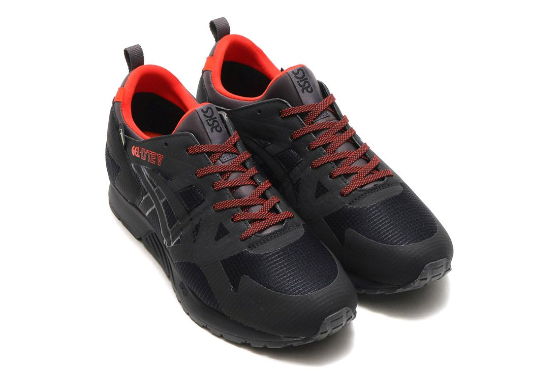 Asics Gel Lyte V Gore Tex Black Red 6