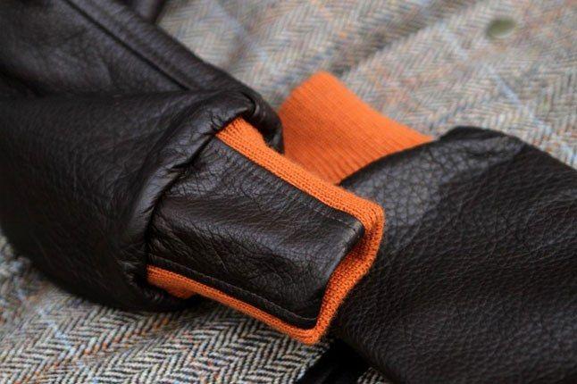 Leather Varsity Sleeve Jacket 1