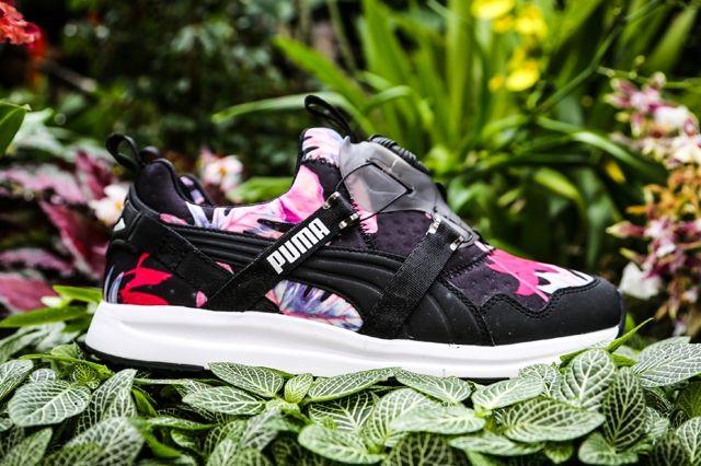 Puma Disc Floral Black Pink