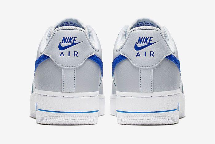 Nike Air Force 1 Low Grey Blue Heel