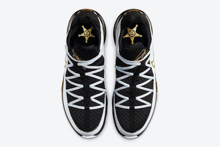 Nike Le Bron 17 Low White Black Metallic Gold Cd5007 101 Top