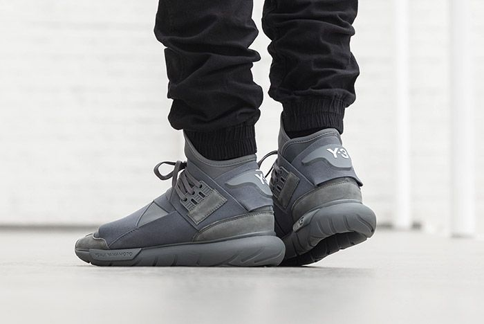 Adidas Y 3 Qasa High Vista Grey On Foot 3