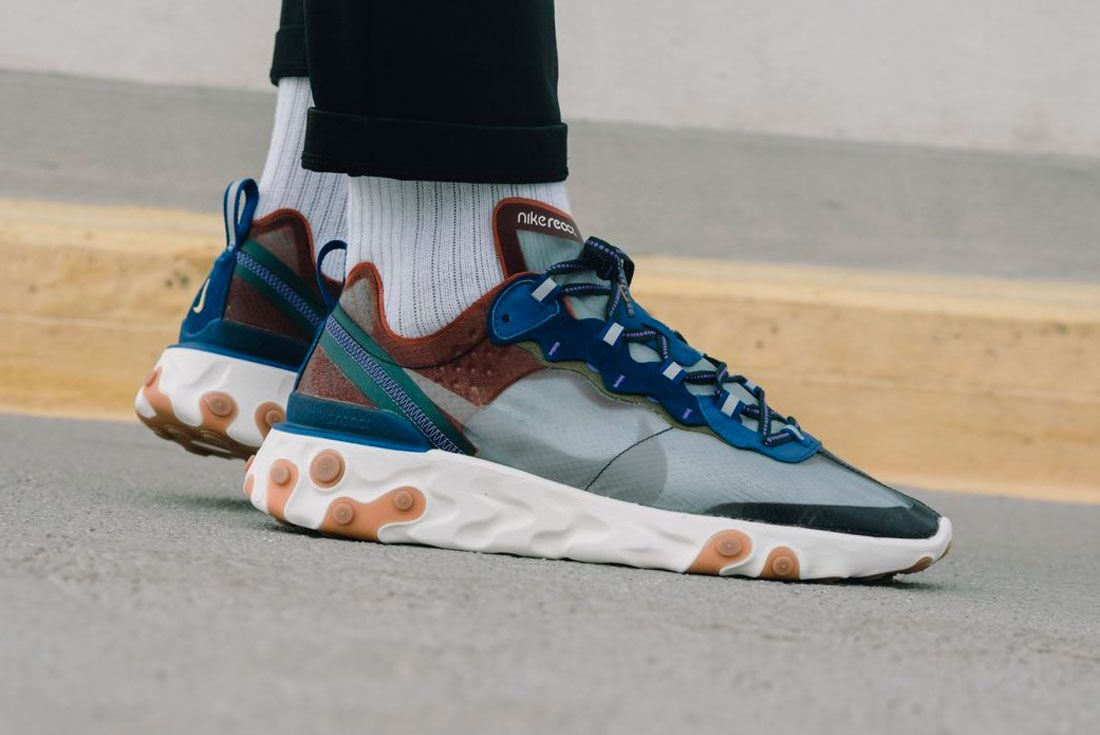 Nike React Element 87 Dusty Peach Right