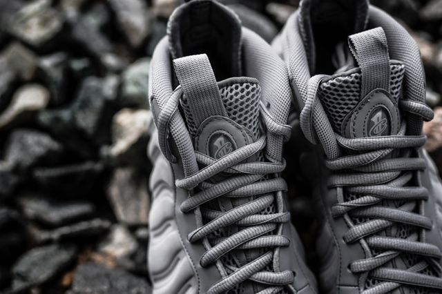 Nike Foamposite Grey Suede Bumper 5