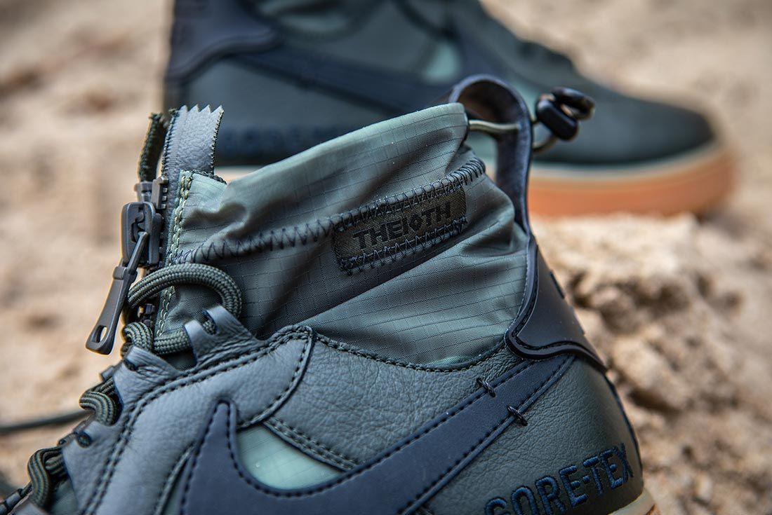Nike Air Force 1 High Gore Tex Green Collar Detail