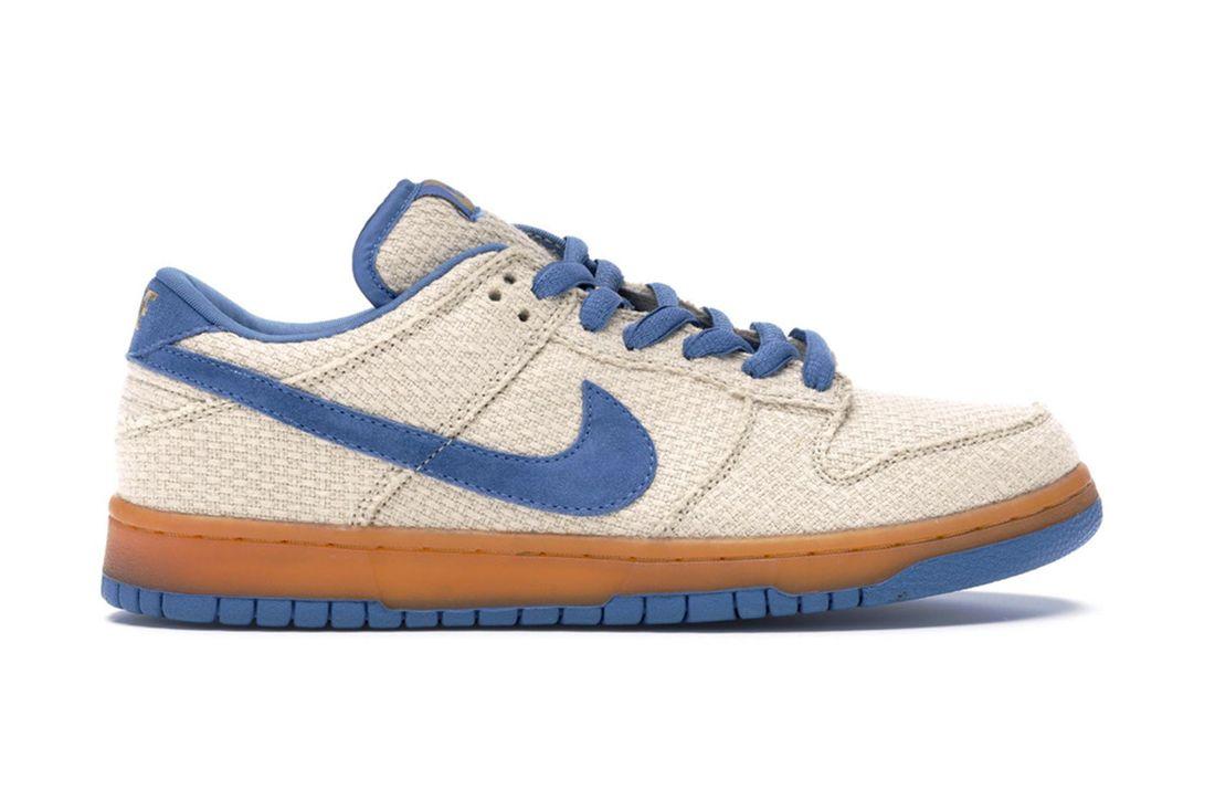 Nike Sb Dunk Low Hemp Cascade Blue 304292 741 Lateral