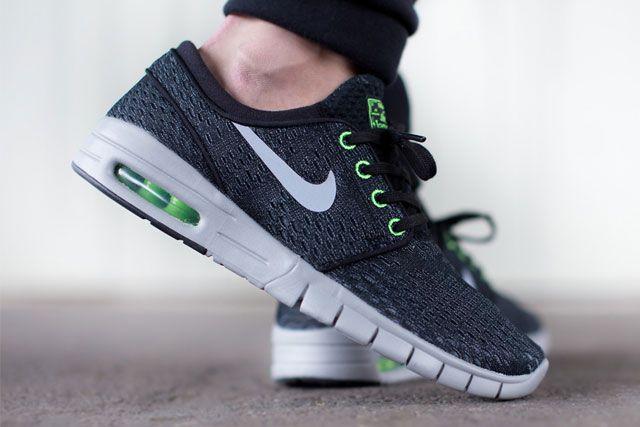 Nike Sb Janoski Max Blackwolf Greyflash Lime 2