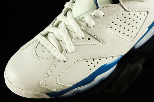 Air Jordan 6 Sport Blue Toebox