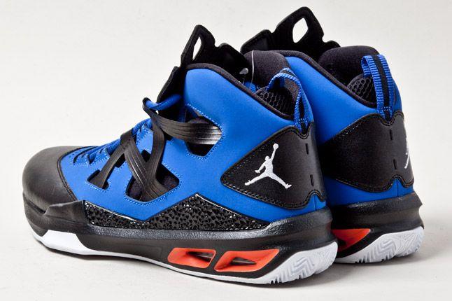 Jordan Melo M9 Blue Orange Blk Heels 1