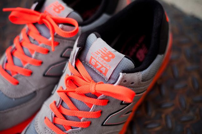New Balance 574 Infrared Laces 1