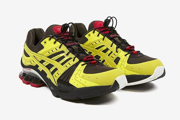 Affix Works Asics Gel Kinsei Yellow Three Quarter Angle Lateral Side Shot