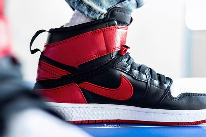 Air Jordan 1 Fly Ease Gym Red Cq3835 001 Release Date 4 On Foot