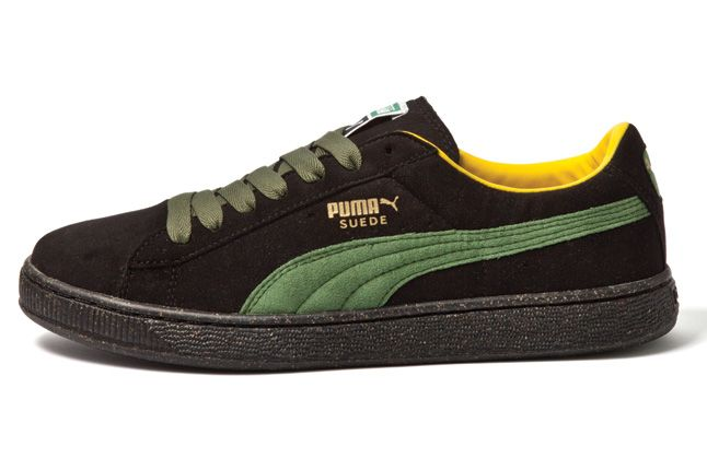 Puma Resuede Black Green 1