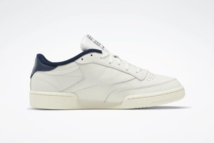 Reebok Club C 85 Chalk Classic White Collegiate Navy Medial