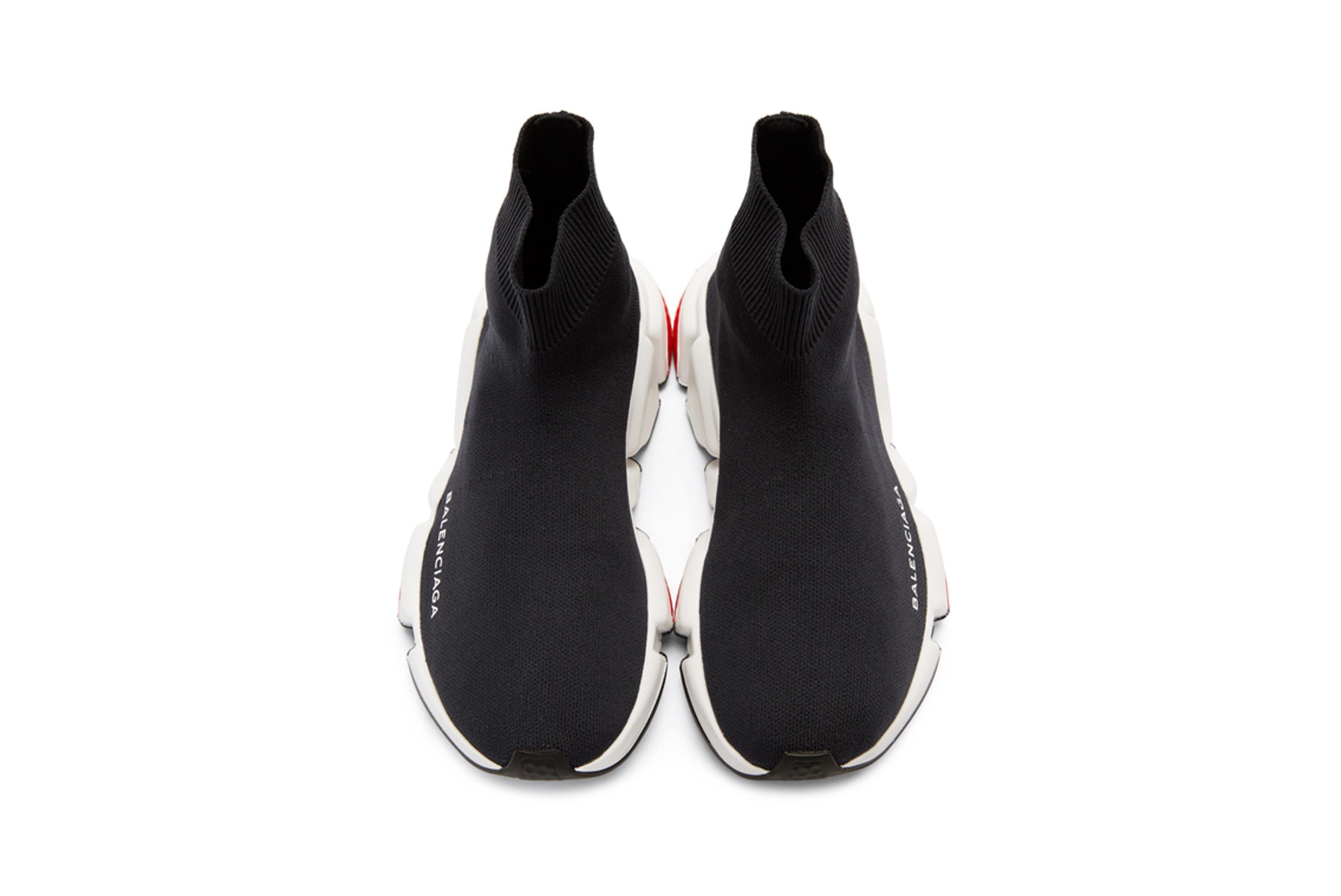 Balenciaga Speed Low High Top Sneakers Black Navy 4 Sneaker Freaker