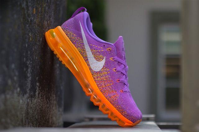 Nike Wmns Flyknit Max Atomic Purple Total Orange 3