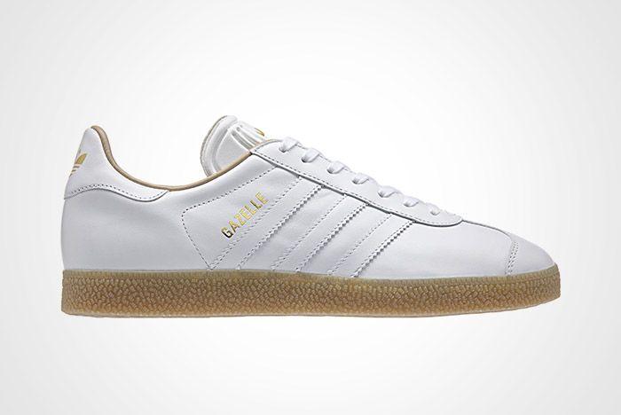 adidas Gazelle Premium Leather (White/Gum) - Sneaker Freaker