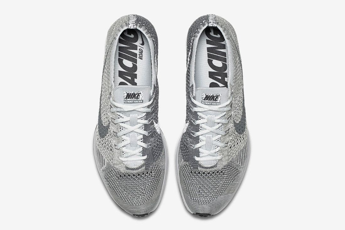 Nike Flyknit Racer Pure Platinum 3