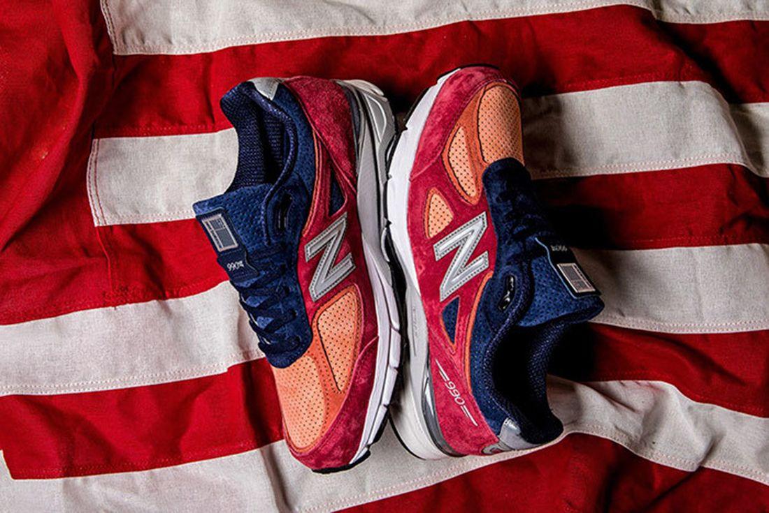 New Balance 990 V4 Copper Rose Patriotic