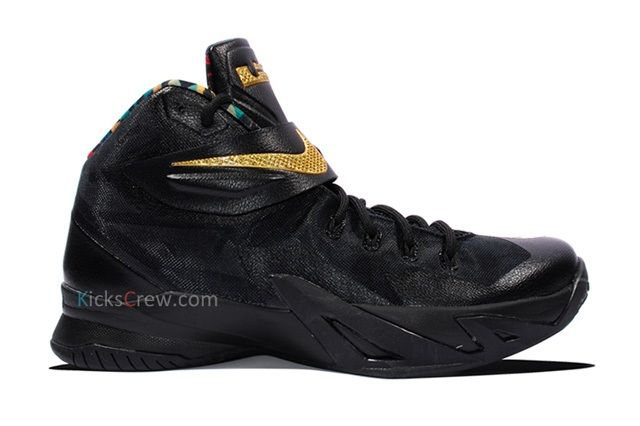 Nike Zoom Soldier Viii Prm Black Metallic Gold 5