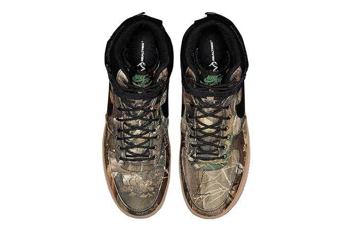 Realtree Black Nike Air Force 1 Top