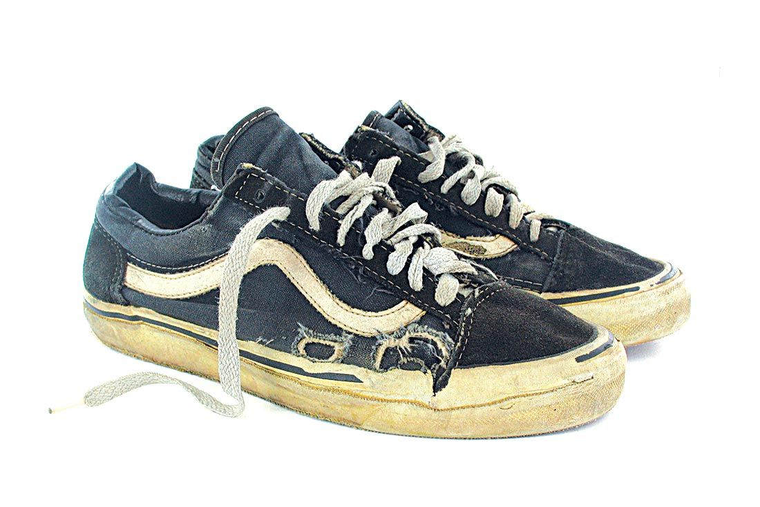 Vans History Wornd Down Old Skool Low Right