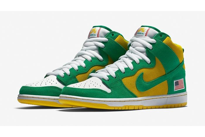 Nike Sb Dunk High Oakland A 6