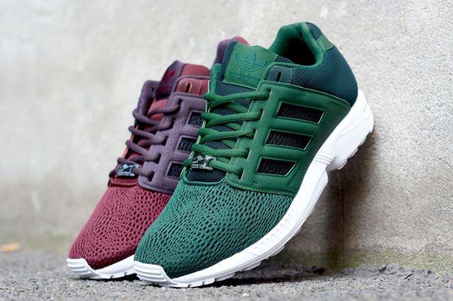 Adidas Zx Flux 2 0 Green Burgundy 1