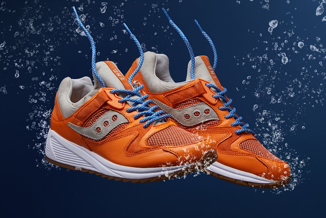 End X Saucony Grid 8500 Lobster 8