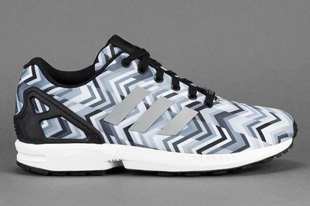 Adidas Zx Flux Grey Chevron 1