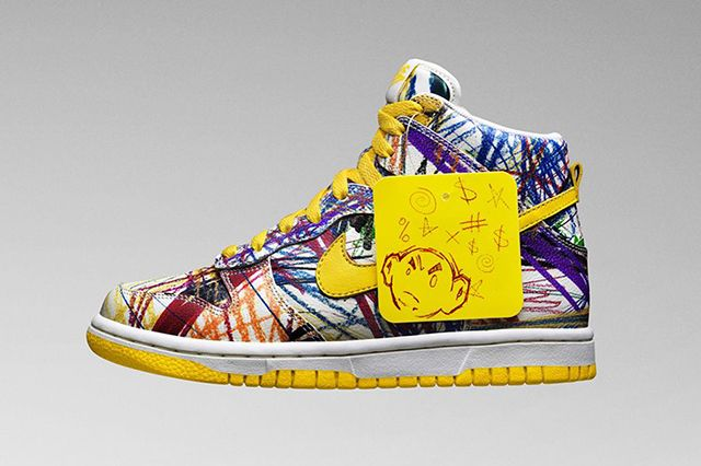 Nike Dunk High Gs Scribble