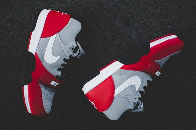 Nike Air Trainer 1 Mid Wolf Grey University Red 3